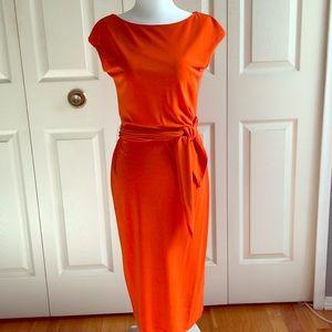 RALPH LAUREN Orange Shift Dress